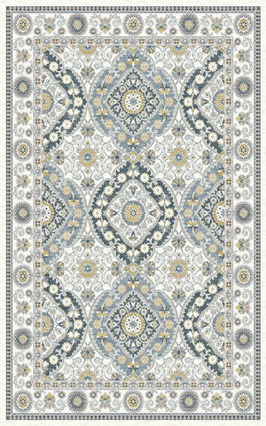 Dynamic Rugs Venice 1578 Cream/Blue Area Rug main image