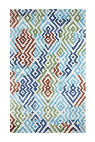 Dynamic Rugs Vogue 881000 Silver/Turquoise Area Rug main image