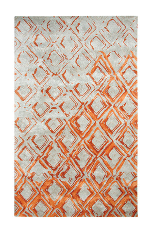 Dynamic Rugs Vogue 881003 Grey/Rust Area Rug main image