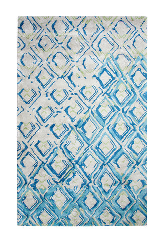 Dynamic Rugs Vogue 881003 Grey/Turquoise Area Rug main image