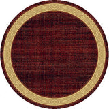 Dynamic Rugs Yazd 1770 Red Area Rug Round Shot