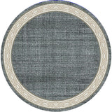 Dynamic Rugs Yazd 1770 Blue/Grey Area Rug Round Shot