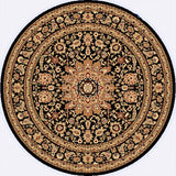Dynamic Rugs Yazd 2800 Black/Black Area Rug Round Shot
