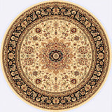 Dynamic Rugs Yazd 2800 Cream/Black Area Rug Round Shot