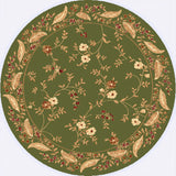Dynamic Rugs Yazd 2801 Green/Green Area Rug Round Shot