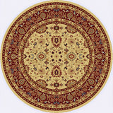 Dynamic Rugs Yazd 2803 Cream/Red Area Rug Round Shot