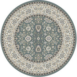 Dynamic Rugs Yazd 2803 Grey/Ivory Area Rug Round Shot