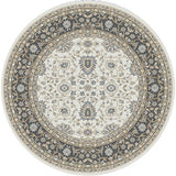 Dynamic Rugs Yazd 2803 Ivory/Grey Area Rug Round Shot