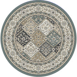 Dynamic Rugs Yazd 8471 Blue/Ivory Area Rug Round Shot