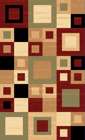 Dynamic Rugs Yazd 8960 Red/Sage Area Rug main image