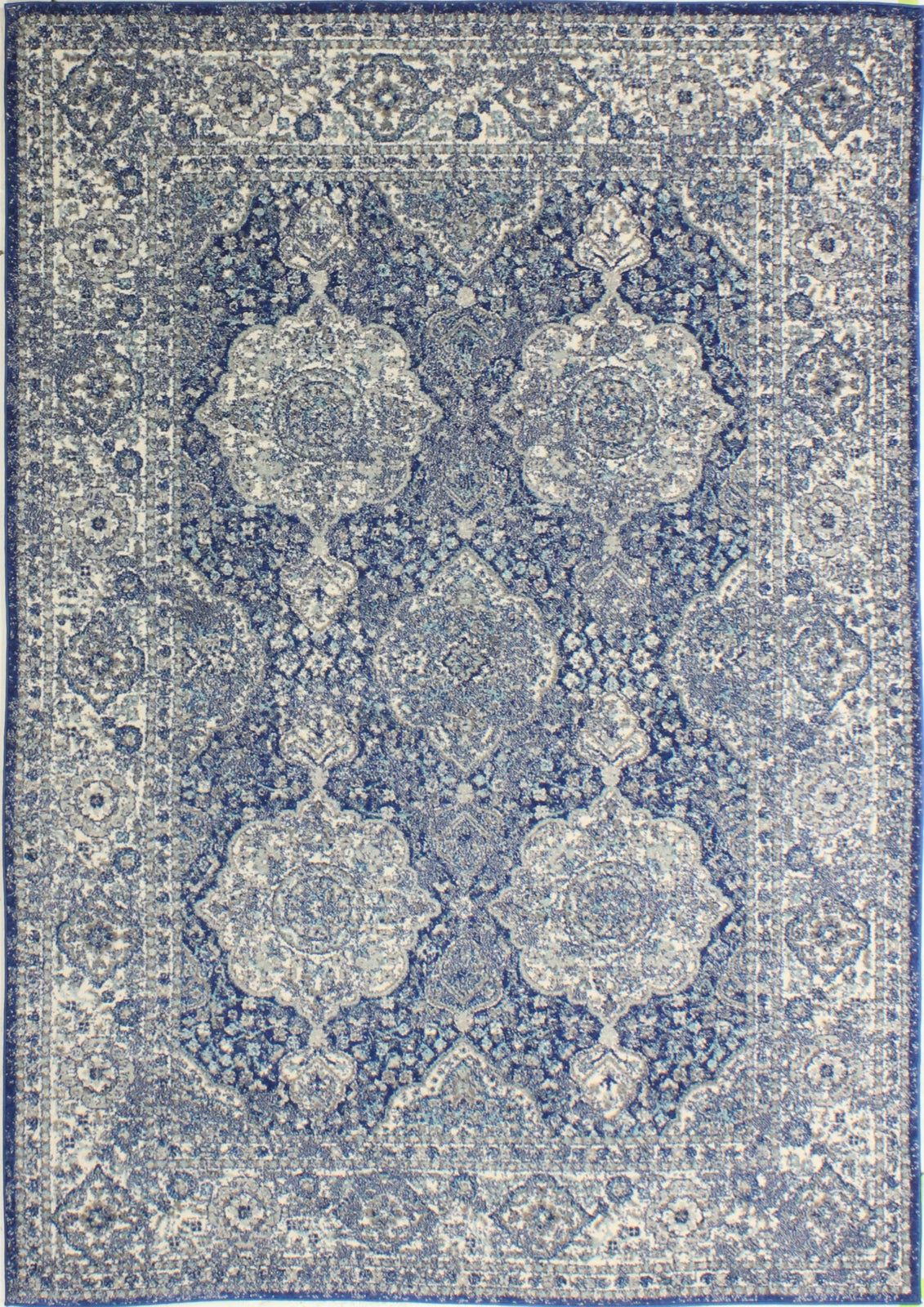 Bashian Everek E110-5363 Dark Blue Area Rug main image
