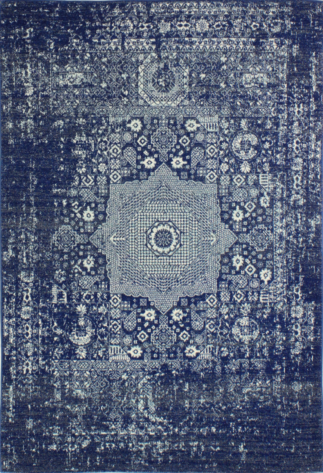 Bashian Everek E110-5438A Dark Blue Area Rug main image
