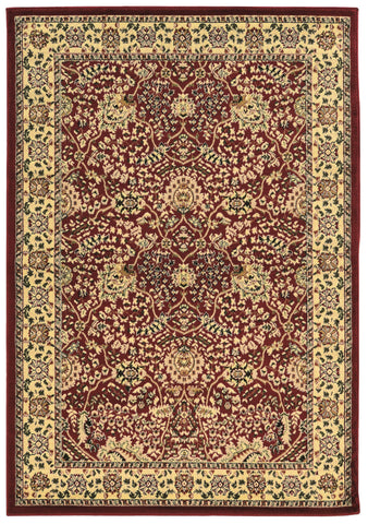 Linon Elegance Collection RUG-EE01 Red/Ivory Area Rug main image