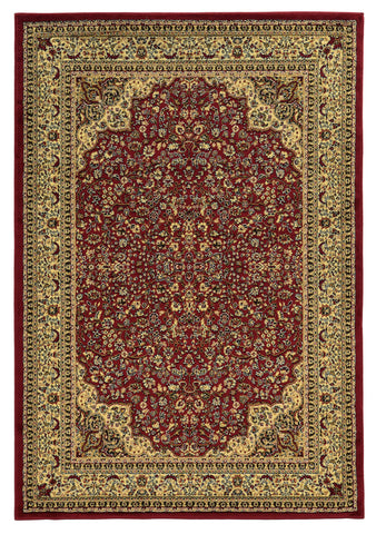 Linon Elegance Collection RUG-EE05 Red/Ivory Area Rug main image