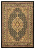 Linon Elegance Collection RUG-EE10 Black/Ivory Area Rug main image