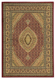 Linon Elegance Collection RUG-EE11 Red/Ivory Area Rug main image