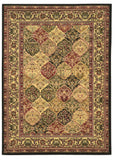 Linon Elegance Collection RUG-EE12 Black/Ivory Area Rug main image