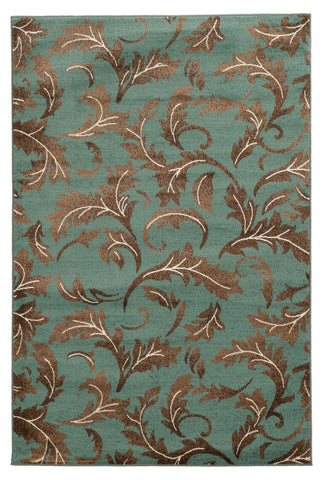 Linon Elegance Collection RUG-EE14 Turquoise/Beige Area Rug main image