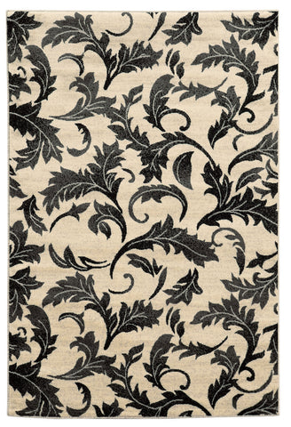 Linon Elegance Collection RUG-EE15 White/Grey Area Rug main image