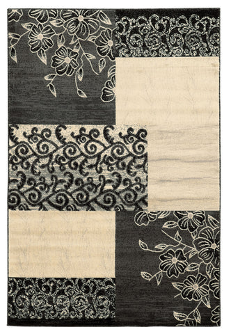 Linon Elegance Collection RUG-EE17 Grey/Ivory Area Rug main image