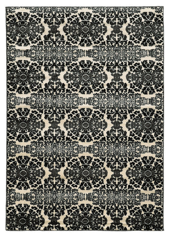 Linon Elegance Collection RUG-EE19 Grey/Ivory Area Rug main image