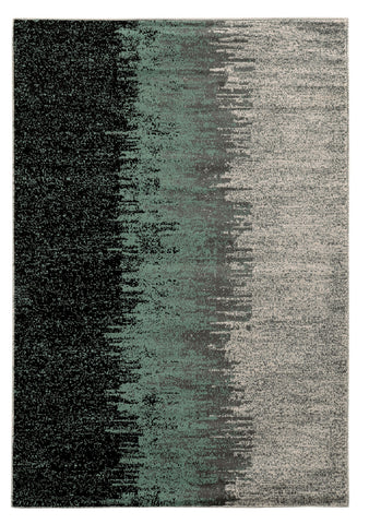 Linon Elegance Collection RUG-EE20 Turquoise/Grey Area Rug main image