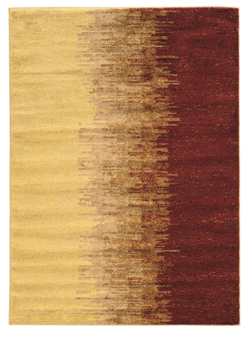Linon Elegance Collection RUG-EE21 Cream/Red Area Rug main image