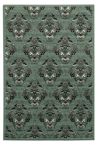 Linon Elegance Collection RUG-EE22 Turquoise/Grey Area Rug main image
