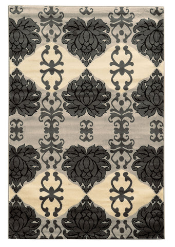 Linon Elegance Collection RUG-EE25 Grey/Ivory Area Rug main image