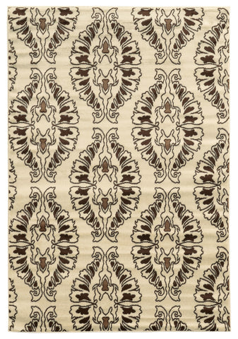 Linon Elegance Collection RUG-EE28 White/Brown Area Rug main image