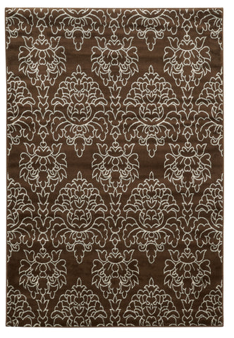 Linon Elegance Collection RUG-EE29 Brown/Ivory Area Rug main image