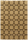 Linon Elegance Collection RUGEE324 Beige/Navy Area Rug