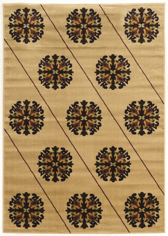 Linon Elegance Collection RUGEE325 Beige/Brown Area Rug main image