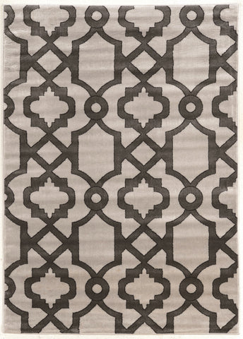 Linon Elegance Collection RUGEE340 Grey/Charcoal Area Rug main image