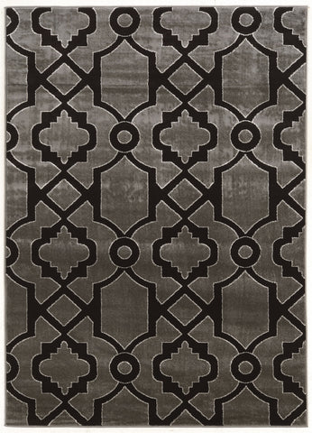 Linon Elegance Collection RUGEE342 Grey/Black Area Rug main image