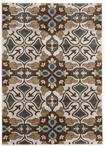 Linon Elegance Collection RUGEE345 Grey/Beige Area Rug main image