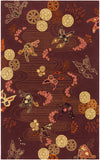 Surya Kismet EGK-1004 Red Area Rug by Emma Gardner