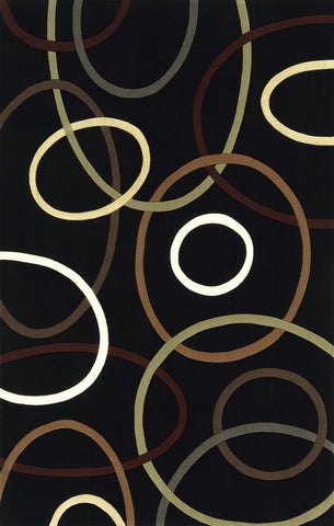 Momeni Elements EL-09 Black Area Rug main image