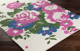 Artistic Weavers Elaine Carter Carnation Pink/Royal Blue Multi Area Rug Corner Shot