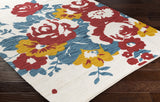 Artistic Weavers Elaine Carter Poppy Red/Teal Multi Area Rug Corner Shot