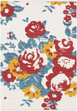 Artistic Weavers Elaine Carter Poppy Red/Teal Multi Area Rug main image