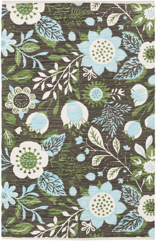 Artistic Weavers Elaine Levi Light Blue/Kelly Green Multi Area Rug main image