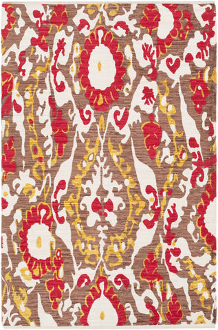 Artistic Weavers Elaine Hudson Poppy Red/Gold Multi Area Rug main image