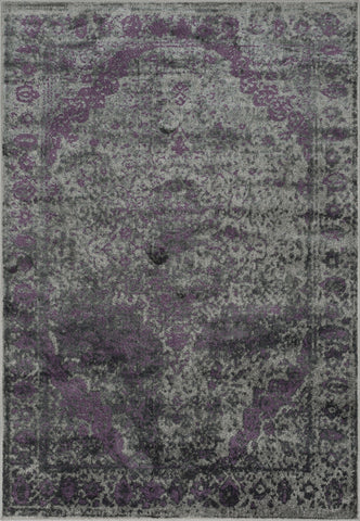 Loloi Elton EO-03 Pewter / Purple Area Rug main image