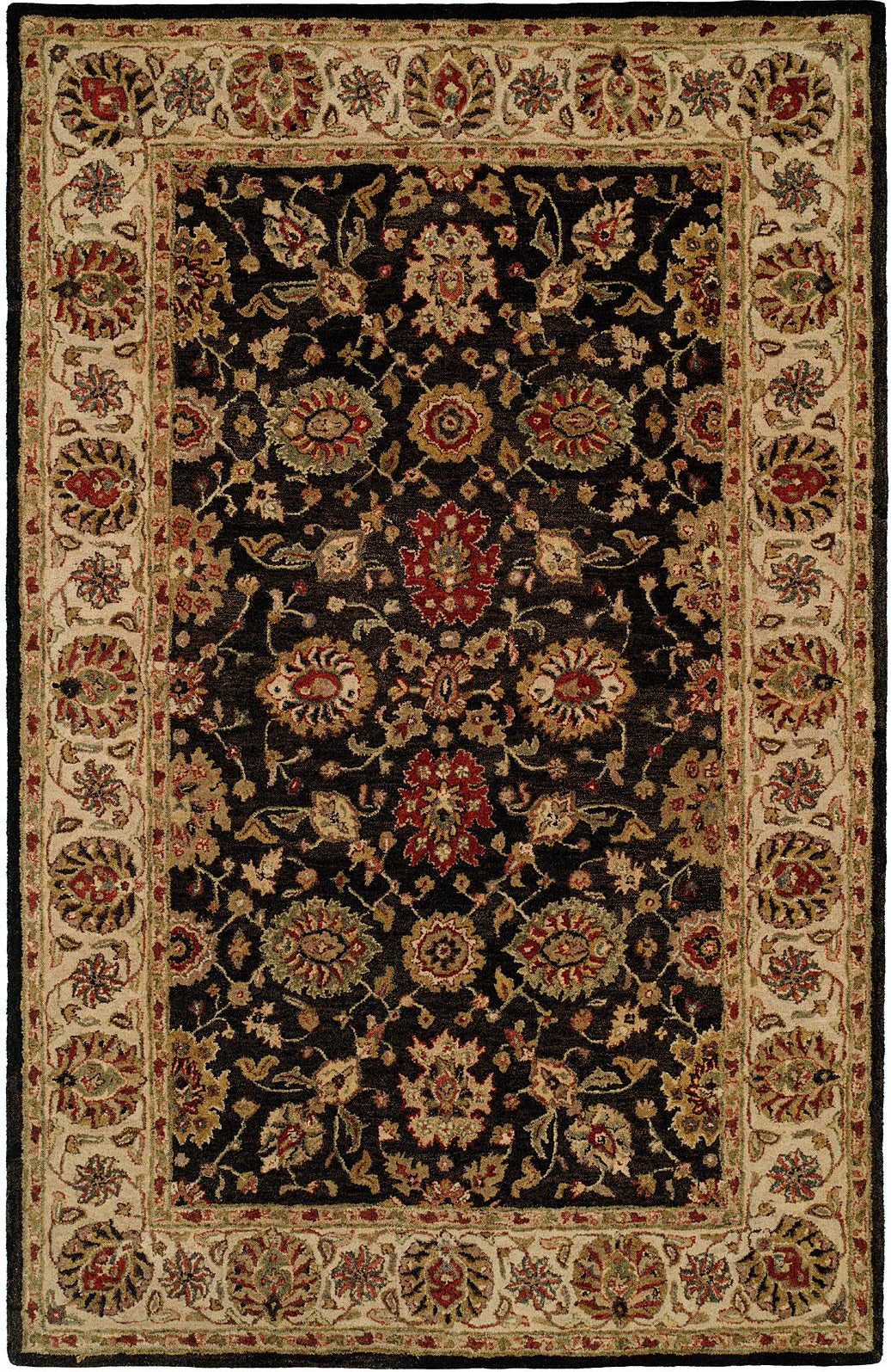 Kalaty Empire EM-283 Black/Ivory Area Rug main image