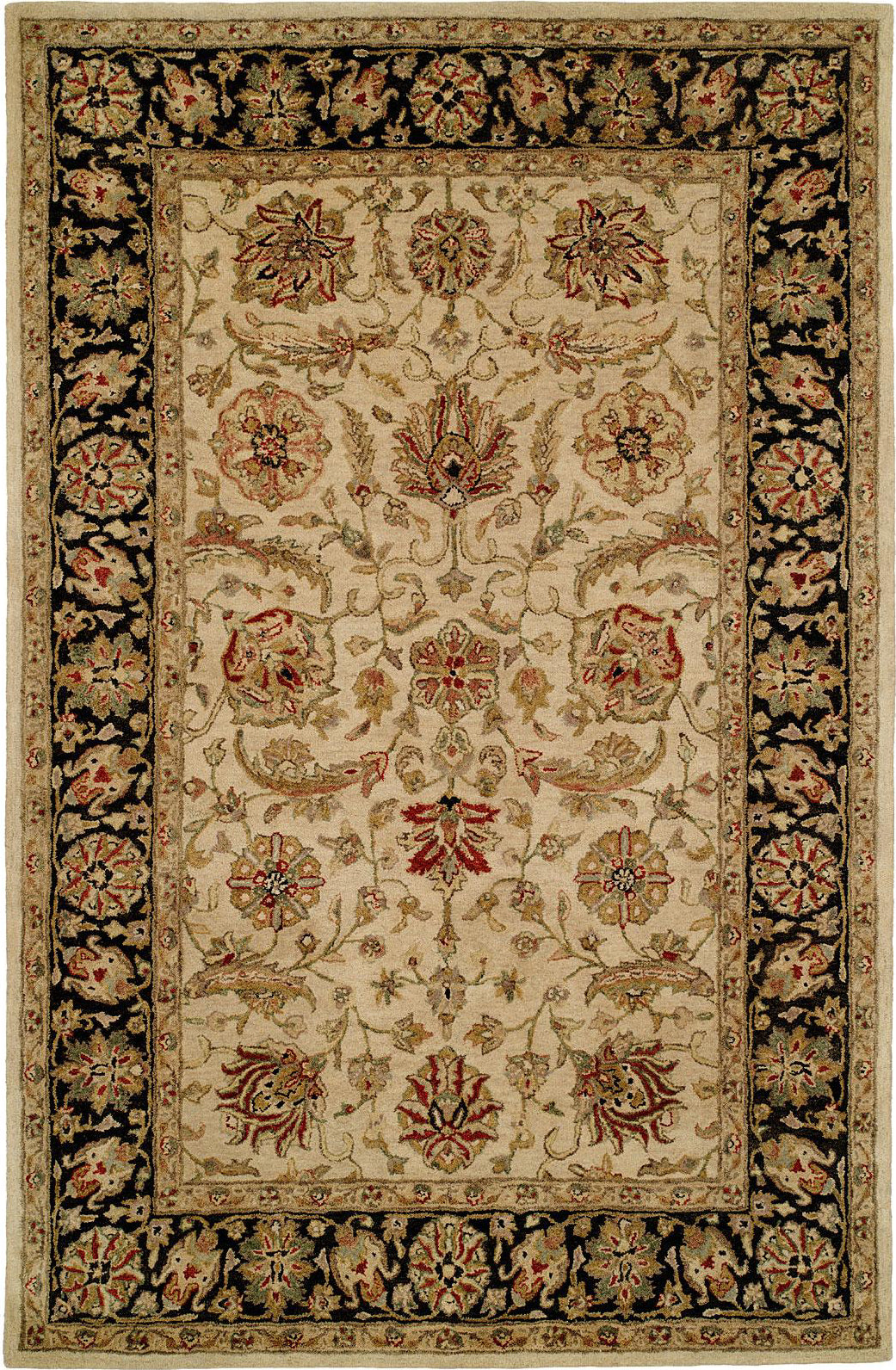 Kalaty Empire EM-286 Ivory/Black Area Rug main image