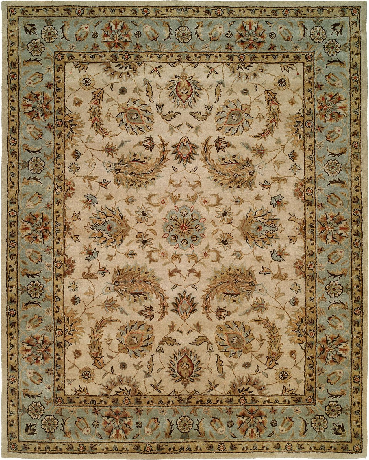 Kalaty Empire EM-294 Ivory/Light Blue Area Rug main image