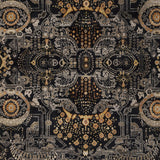 Surya Empress EMS-7000 Black Hand Knotted Area Rug Sample Swatch