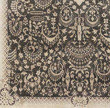 Surya Empress EMS-7001 Black Hand Knotted Area Rug Sample Swatch