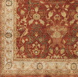 Surya Empress EMS-7002 Dark Red Hand Knotted Area Rug Sample Swatch
